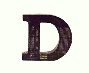 LITERY DEKORACYJNE ALFABET IRON D