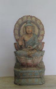 FIGURA RZEŹBA DREWNIANA BUDDHA