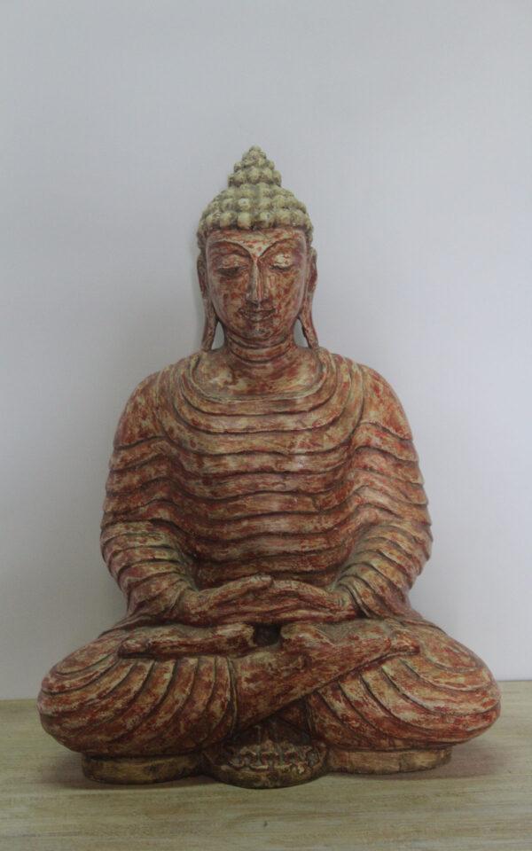 FIGURKA DREWNIANA BUDDHA