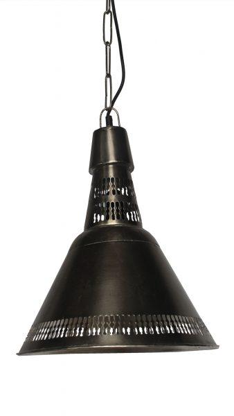 LAMPA SUFITOWA MATALOWA SREBRNA