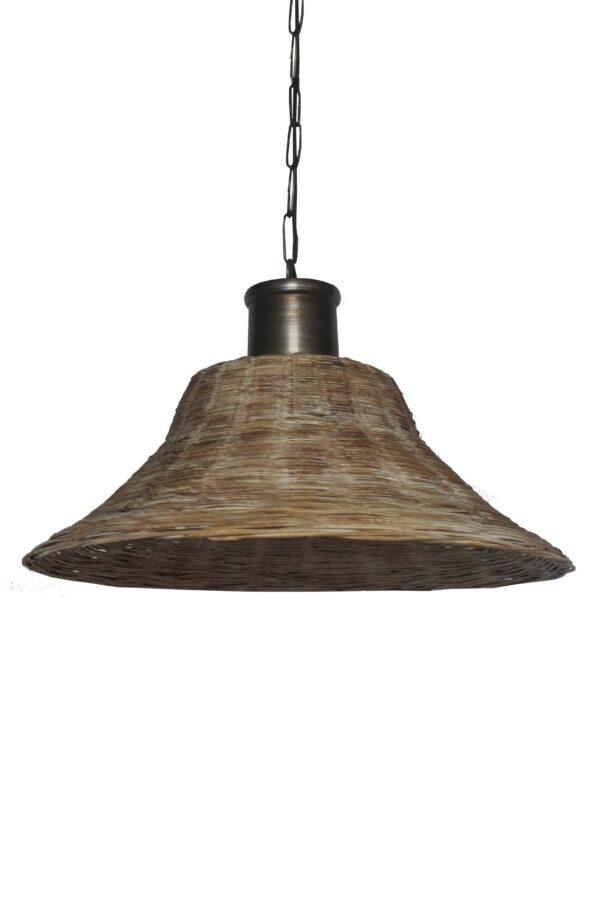 LAMPA WISZACA Z RATTANU