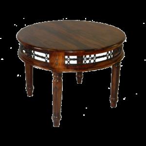 stół okrągły drewniany kolonialny Jali