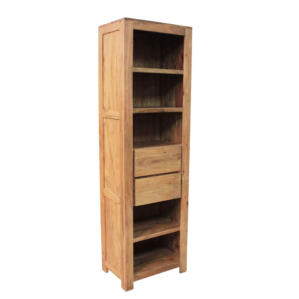 Regal Kolonialny Drewniany Wood Story Indigodecor