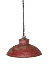 lampa loftowa metal czerwona