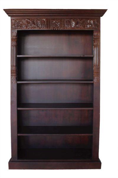 Drewniana biblioteka z palisandru