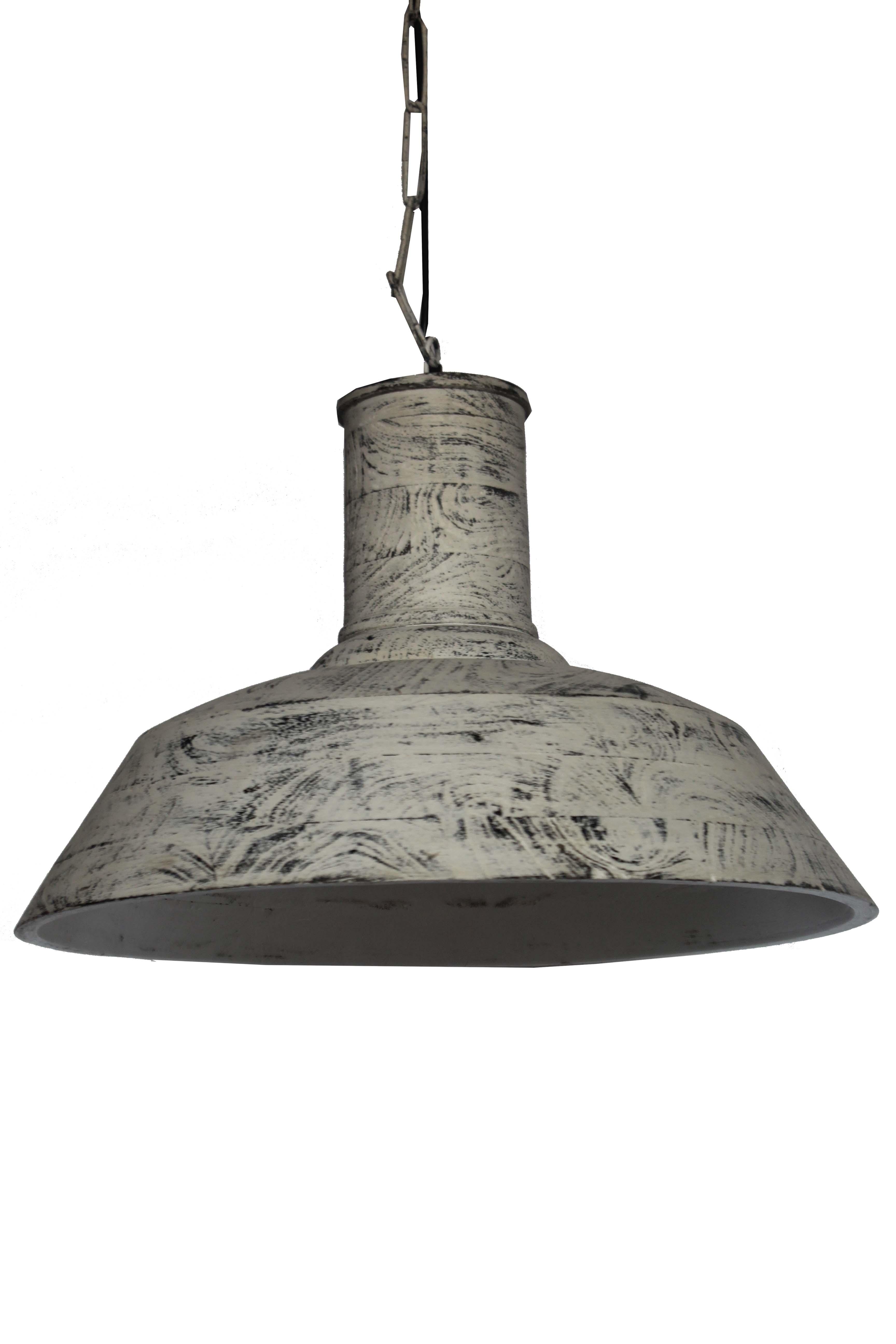 Lampa Drewniana Sufitowa Loft Biała Indigodecor