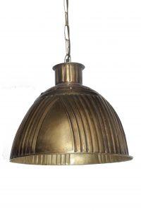 LAMPA WISZACA METALOWA LOFT ZLOTA