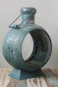 LAMPION METALOWY LOFTOWY NIEBIESKI