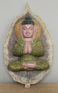FIGURKA DREWNIANA SCIENNA BUDDHA