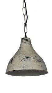 LAMPA METALOWA WISZACA BIALA