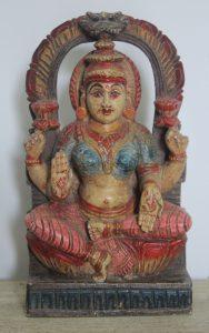 figurka drewniana laxmi