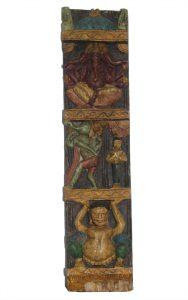 rzezba panel drewniany podluzny