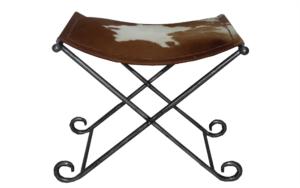 siedzisko stołek loft skóa metal