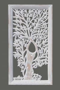 Panel biały , to dekoracja dla osób szukających czegoś nowego, pięknego co może być alternatywą dla obrazów. Panel z motywem drzewa idealnie wpisze się w różne wnętrza