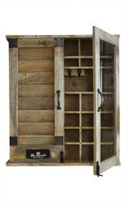 szafka na klucze organizer drewniany
