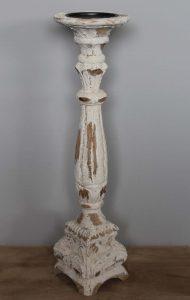 świecznik drewniany biały przecierany kod produktu 6199