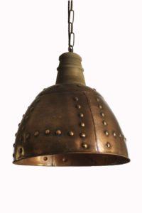 Lampa industrialna miedziana