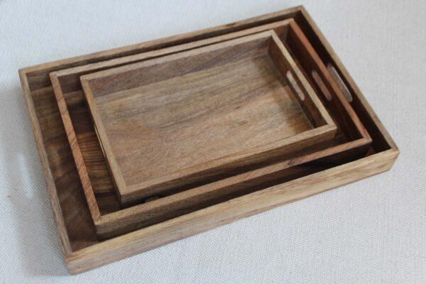 taca drewniana zestaw T-7 45x2x30;38x2x25;30x2x20