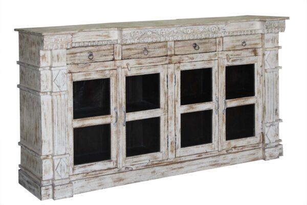 komoda drewniana z szybą orient Indigo Decor