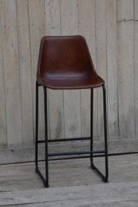 Krzesło barowe skórzane loftowe