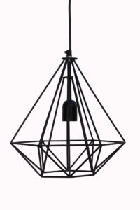 lampa metalowa czarna