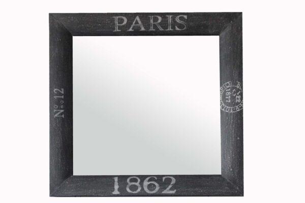 lustro drewniane loftowe industrialne szare