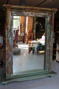 lustro drewniane tekowe Orient Indigo Decor