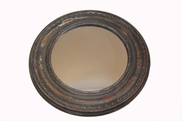 lustro okrągłe loftowe szare