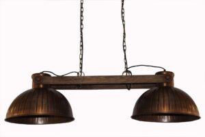 Lampa industrialna sufitowa miedziana