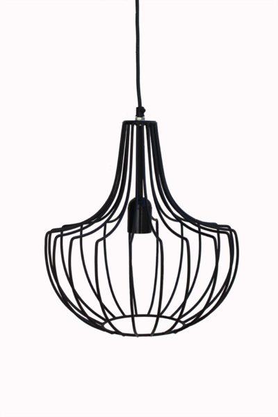 lampa czarna metalowa industrialna