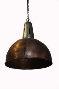 Lampa industrialna wisząca miedziana