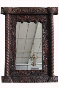 lustro kolonialne drewniane wymiary 103x9x140