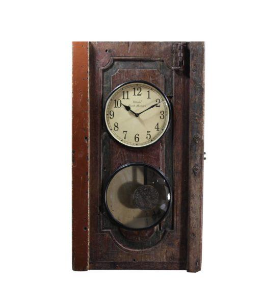 Drewniany zegar recykling