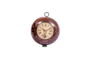 Industrialny ścienny zegar, metalowa misa