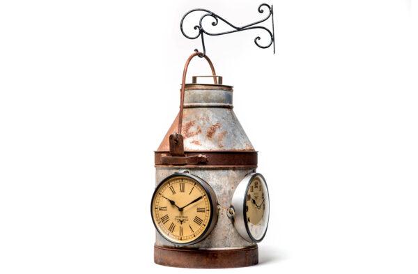 Industrialny zegar, zegar w kształcie bańki na mleko FS-1480 Side