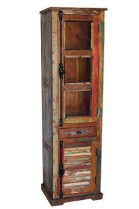biblioteczka z drewna regał na książki