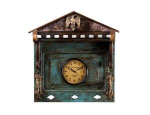 Zegar drewniany kolorowy