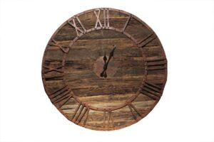 zegar industrialny drewniany