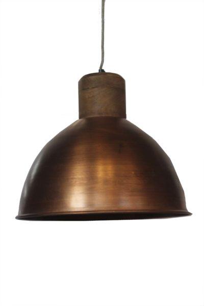 LAMPA-WISZĄCA-METALOWO-DREWNIAN-W-KOLORZE-MIEDZIANYM
