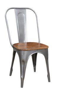 Metalowe krzesło z drewnianym siedziskiem STO21