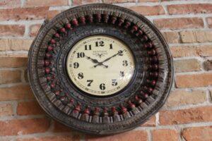 okrągły-zegar-drewniany