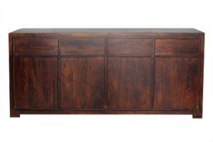 komoda-drewniana-natural living 4 drzwiowa