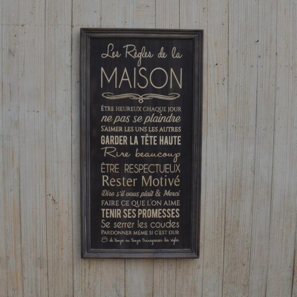 PANEL DEKORACYJNY DREWNIANY MAISON  NA ŚCIANĘ