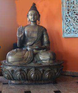 figura buddhy mosieżna