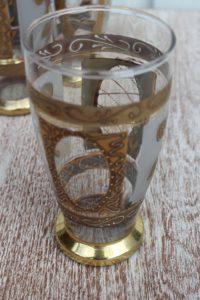 ręcznie malowana szklanka