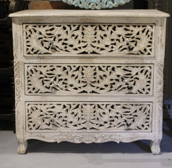 komoda-drewniana biała