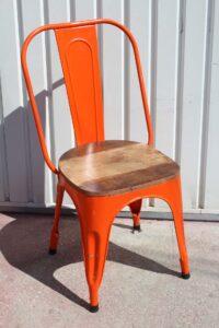 krzesło-loft-pomarańczowe